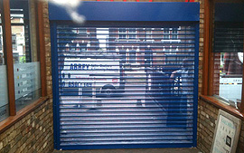 Powder Coated Perforated Electric Roller Shutter